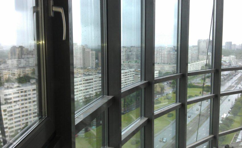 Алюминиевое окно на балкон