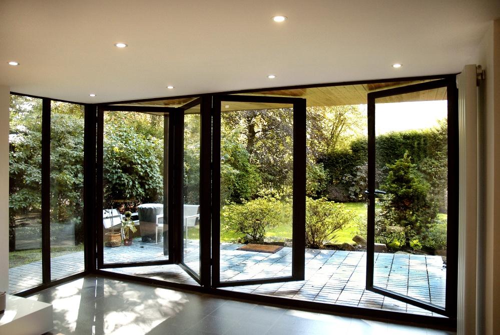 Панорамное алюминиевое окно 1