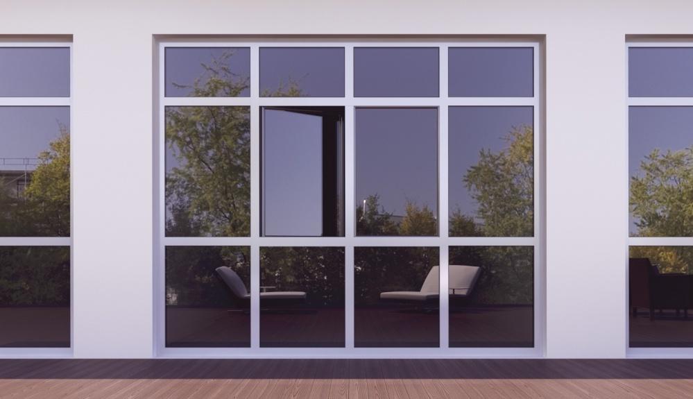 Холодное алюминиевое окно 1