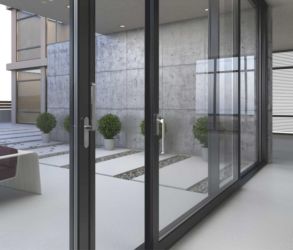 Панорамное алюминиевое окно 2