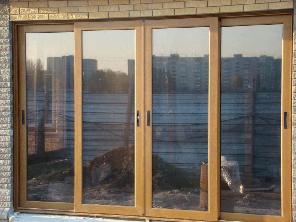 Алюминиевое раздвижное окно 2