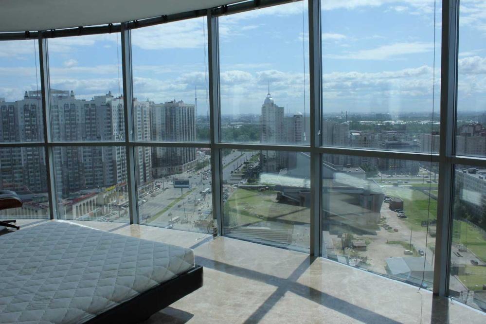 Панорамное алюминиевое окно 3