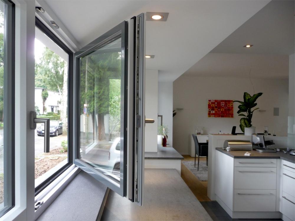 Теплое алюминиевое окно 1