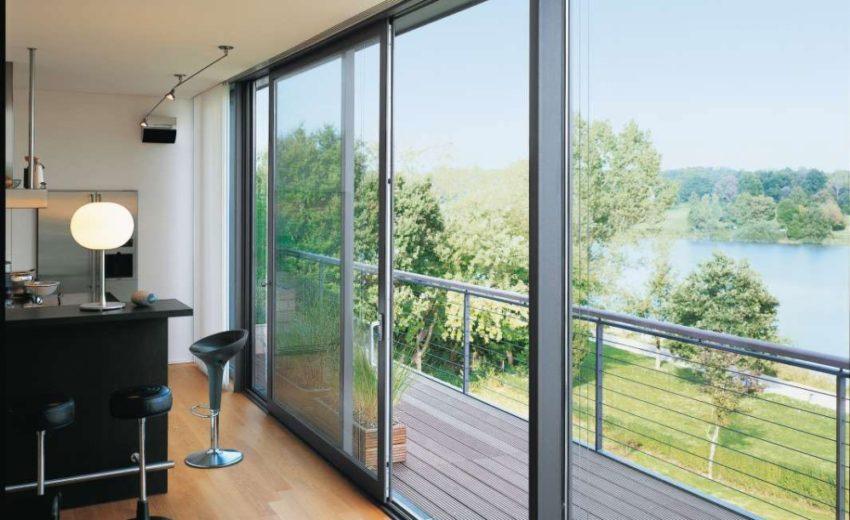 Панорамное алюминиевое окно