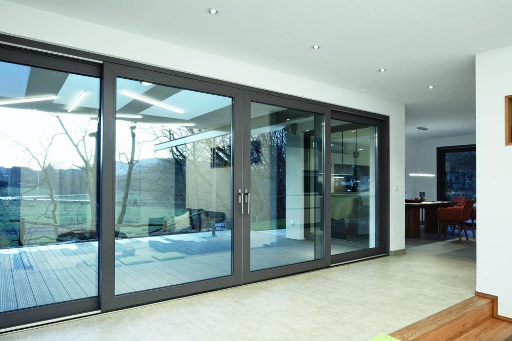 Алюминиевое раздвижное окно 1